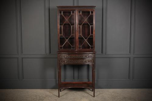 Chinese Chippendale Glazed Bookcase on Stand (1 of 8)