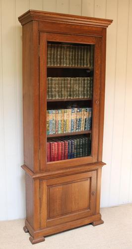Rustic French Oak Glazed Cabinet Bookcase (1 of 13)