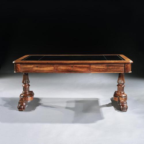 Fine Late Georgian Mahogany Gillows Partners Writing Table (1 of 8)