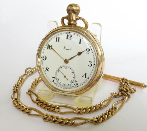 1920s Limit Pocket Watch & Chain (1 of 4)