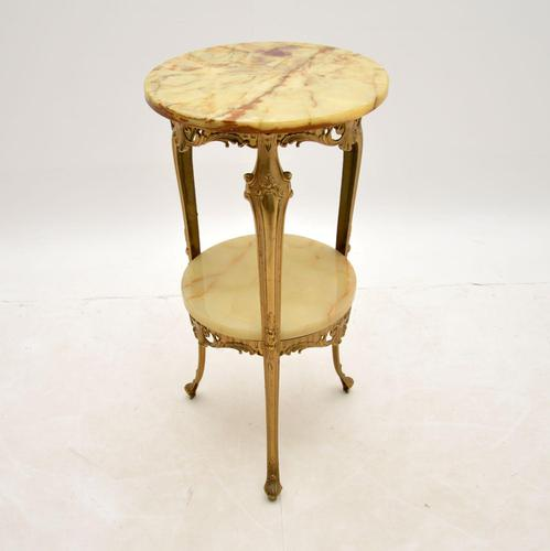 French Style Brass & Onyx Side Table (1 of 6)