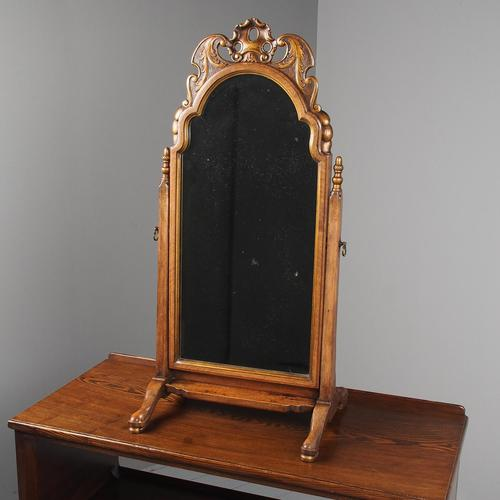 Queen Anne Style Walnut Mirror by Whytock & Reid c.1900 (1 of 12)
