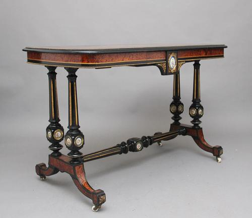19th Century Amboyna & Ebonised Sofa Table (1 of 11)