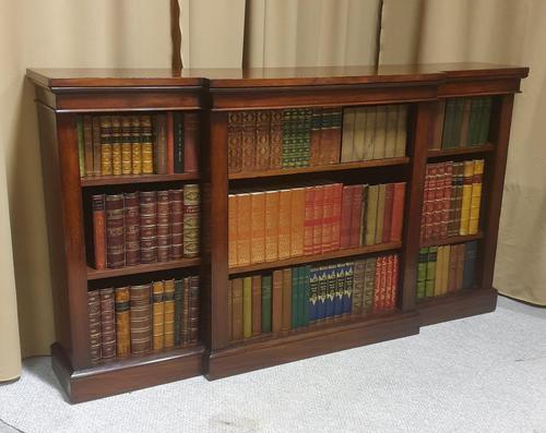 Victorian Mahogany Breakfront  Open Library Bookcase (1 of 7)