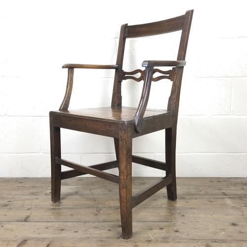 19th Century Welsh Oak Ball & Rail Back Chair (1 of 9)