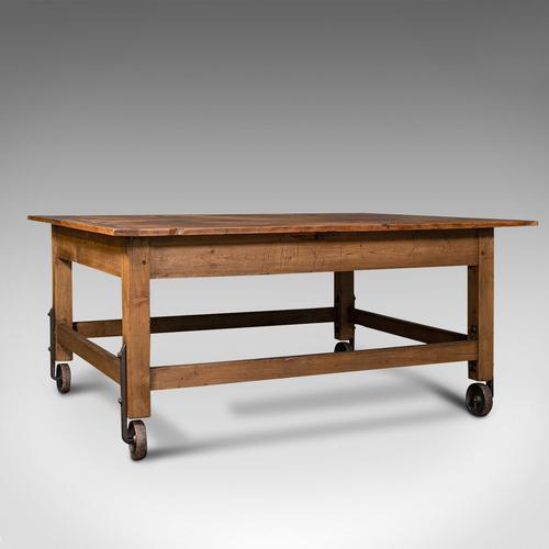 Antique Boulangerie Table, French, Pine, Shop, Bakery, Display, Victorian c.1880 (1 of 12)