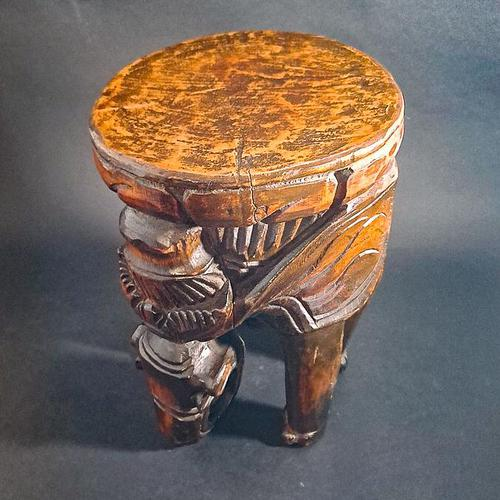 Carved Elephant Side Table (1 of 6)