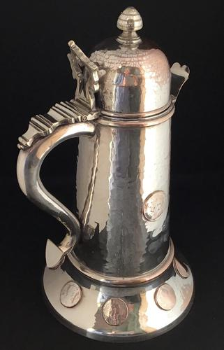 Large Silver Plated George IV Ale Jug (1 of 7)