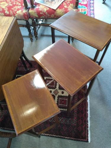 Edwardian Inlaid Mahogany Nest of Tables by Waring & Gillow Ltd (1 of 5)