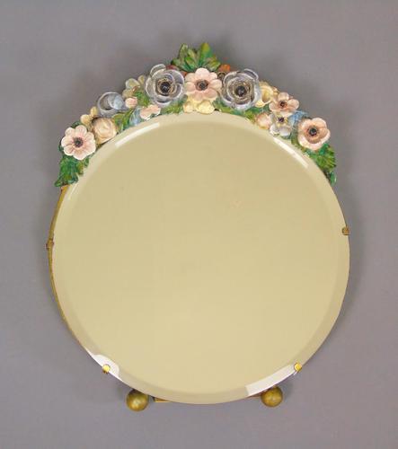 Antique Floral Barbola Mirror (1 of 7)