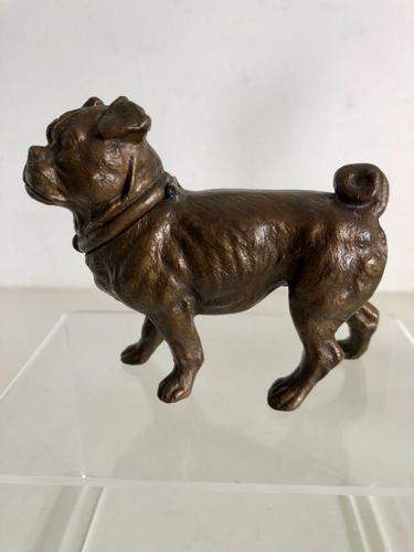 Antique Austrian Bronze Inkwell In The Form Of A Pug (1 of 8)