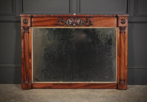 William IV Mahogany Overmantle Mirror (1 of 7)
