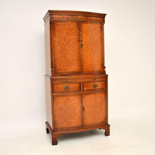 Antique Georgian Style Burr Walnut Cabinet (1 of 11)