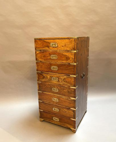 Colonial Campaign Chest of Drawers (1 of 10)