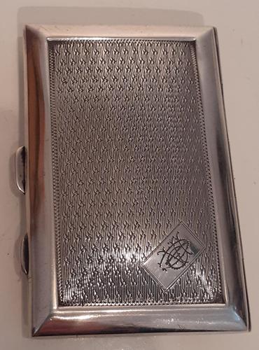 Art Deco Silver Cigarette Case, Hallmarked 1927 (1 of 4)