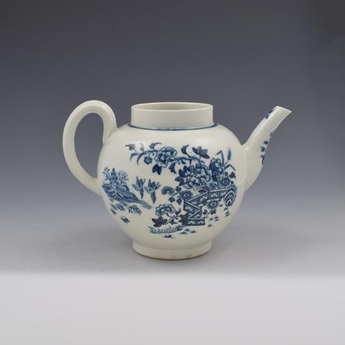 First Period Worcester Porcelain Fence Pattern Teapot c.1770 (1 of 11)