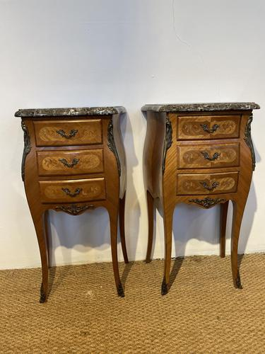 Pair of Bedside Cabinets 3 Drawers (1 of 7)