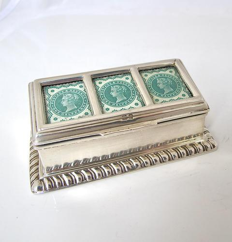 Victorian Silver Triple Stamp Box Henry Matthews Chester 1901 (1 of 6)