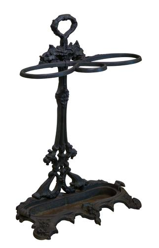 Handsome Victorian Cast Iron Stick Stand (1 of 7)
