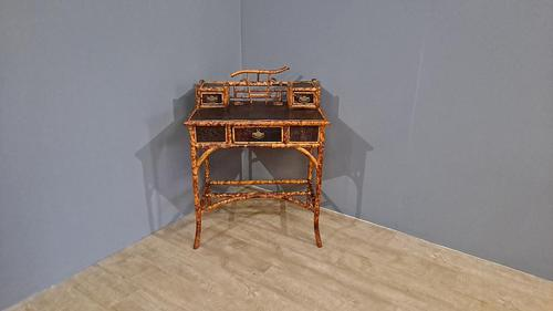 Victorian Lacquered Bamboo Desk (1 of 6)