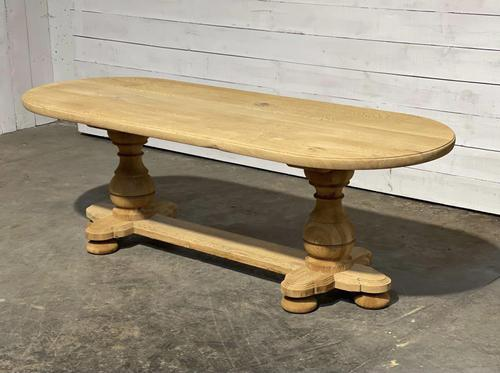 French Bleached Oak Monastery Dining Table (1 of 30)