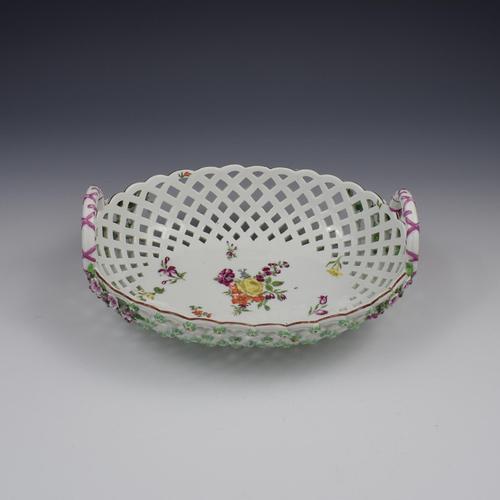 Fine Large Chelsea Red Anchor Porcelain Basket c.1750-1758 (1 of 18)