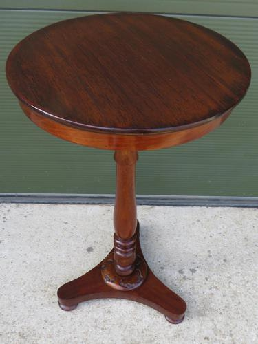 Early Victorian Round Mahogany Lamp Table (1 of 7)