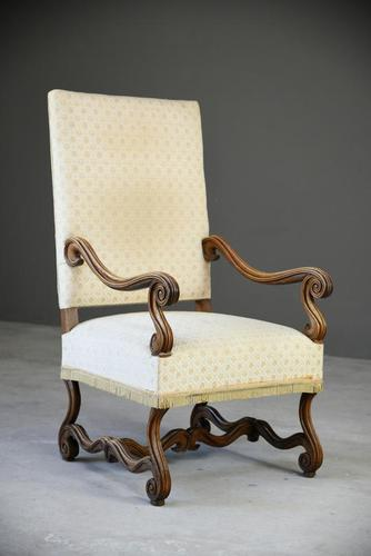 French Walnut Open Armchair (1 of 12)