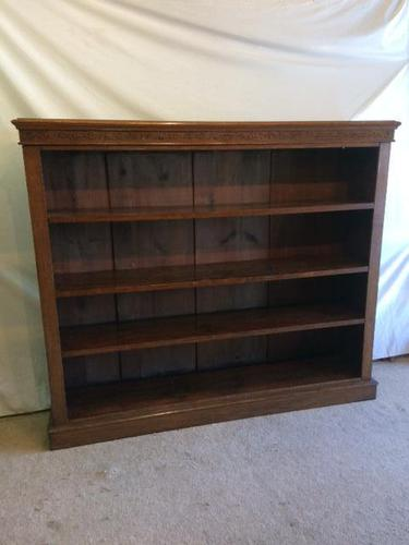 Victorian Open Front Mahogany Bookcase (1 of 3)