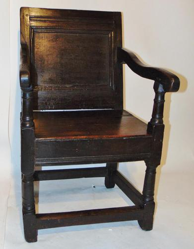 Late 17th Century Oak Wainscot Chair (1 of 11)
