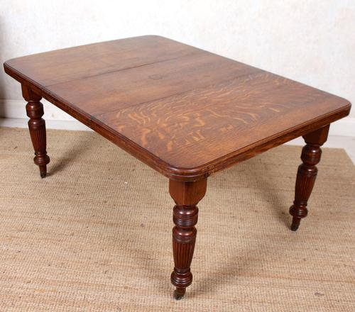 Oak Dining Table 6 Seater Victorian Wild Golden Oak 19th Century Solid (1 of 16)