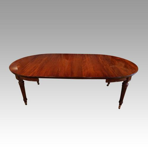 Edwardian mahogany circular extending dining table (1 of 14)
