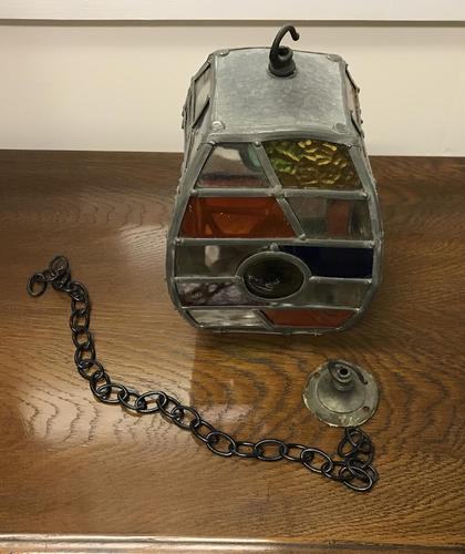 Arts & Crafts Glass Lantern (1 of 6)