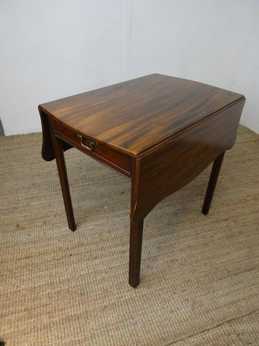 English 18th Century Shaped Top Side Table (1 of 10)