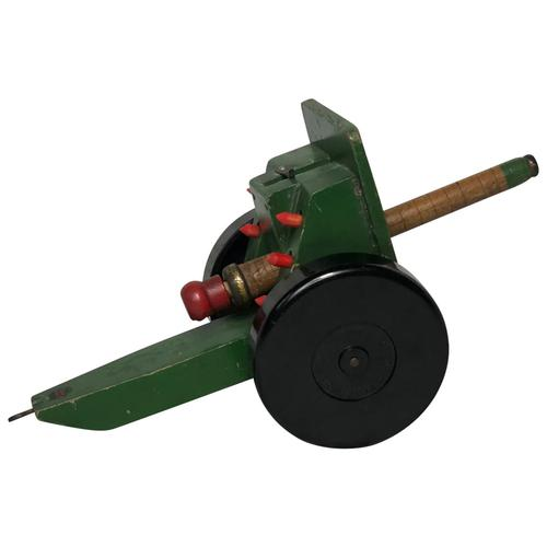 Rare Model Toy Original Chad Valley Green Cannon Artillery On Wheels (1 of 22)