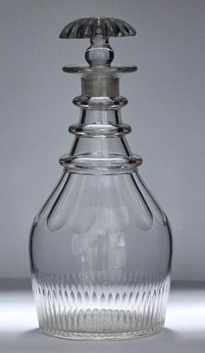 Late Georgian, English, three-ring Prussian-shaped decanter (1 of 3)