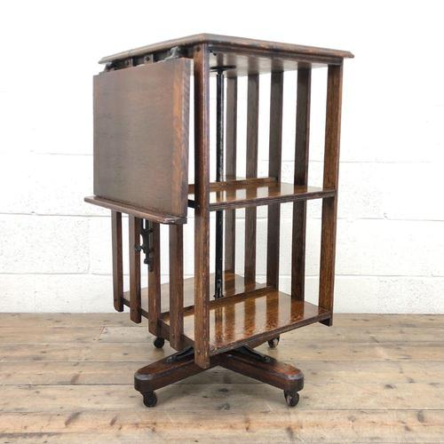 Early 20th Century Oak Revolving Bookcase (1 of 8)