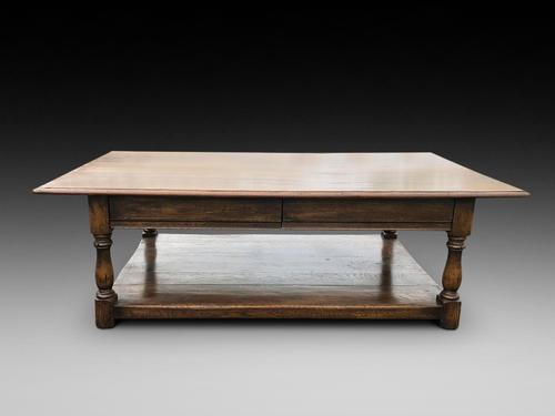 Refectory Style Oak Coffee Table (1 of 4)
