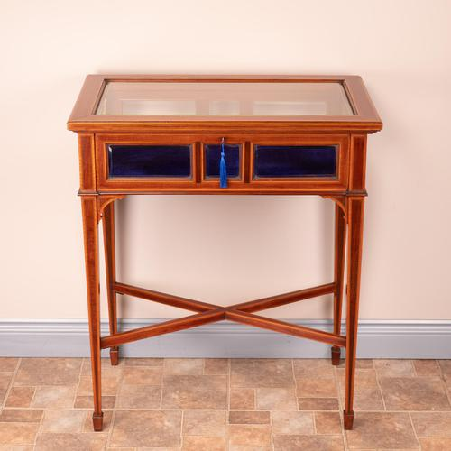 Fine Quality Edwardian Inlaid Mahogany Bijouterie Display Table (1 of 18)