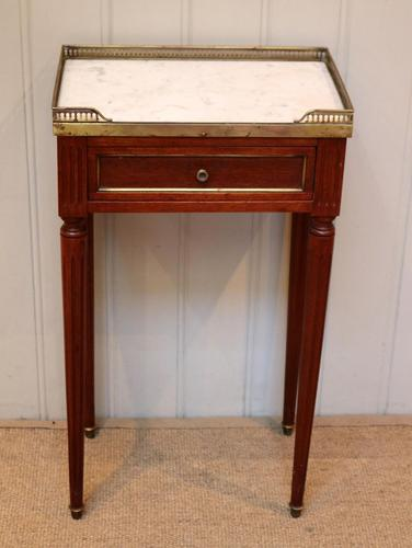 French Mahogany Marble Top Table (1 of 10)