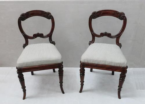 Pair of Regency Simulated Rosewood Chairs Attributed to Gillows (1 of 9)