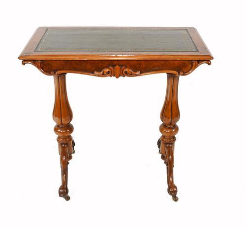Victorian Writing Table Walnut Tulip Leg Desk c.1880 (1 of 10)
