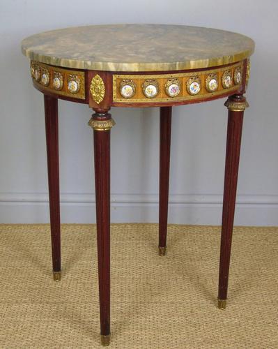 Good Louis XVI Style Marble & Kingwood Lamp Table (1 of 8)
