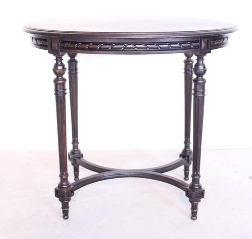 19th Century Ebonised Occasional Table (1 of 8)