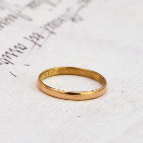 The Vintage 1927 22ct Gold Wedding Band (1 of 2)