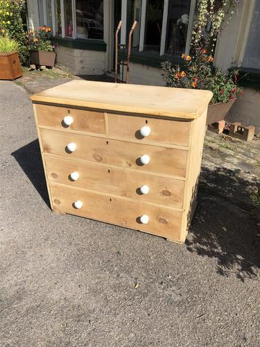 Antique Pine Two Over Three Chest of Drawers (1 of 11)
