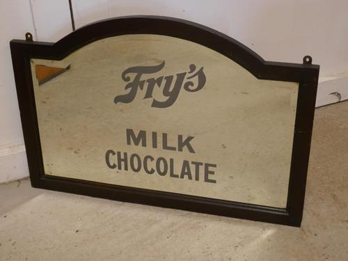 Edwardian Fry's Chocolate Advertising Mirror (1 of 4)