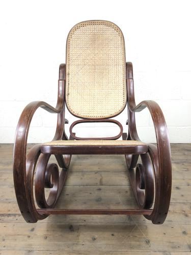 Bentwood Rocking Chair with Cane Seat (1 of 11)