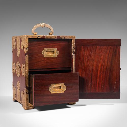 Antique Collector's Box, Chinese, Rosewood, Decorative Specimen Case c.1920 (1 of 12)