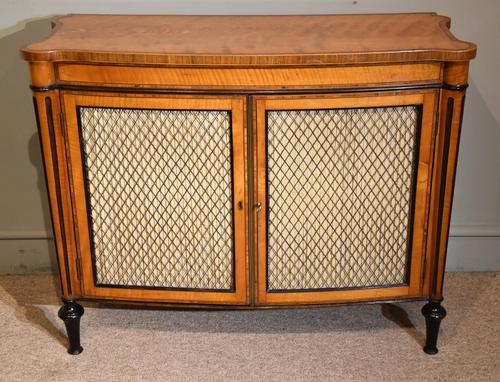 George III Satinwood Chiffonier Side Cabinet (1 of 9)